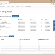 The Analog Input Configuration page on the Flexs Q4 allows you to setup each of the analog input and assign them a label